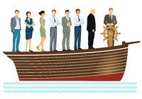 Leadership and teamwork -  illustration