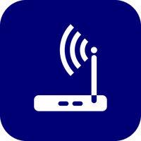 Wireless router icon wifi adsl ethernet modem hub .
