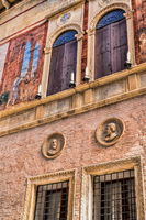 vicenza, italy - 19.03.2019 - Detail of an old palazzo