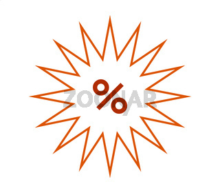 discount icon illustrated in vector on white background