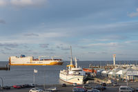 The landing stage for the ferry to Helgoland in Cuxhaven