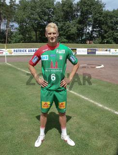 deutscher Handballer Matthias Musche beim Fußballspiel Trainigsauftakt Saison 14/15 SC Magdeburg,DHB