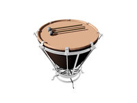 Timpani with fur and mallet