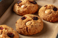 Fat Rascals, typical English rock cookie, a close-up