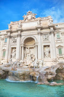 The world famous Trevi Fountain in Rome