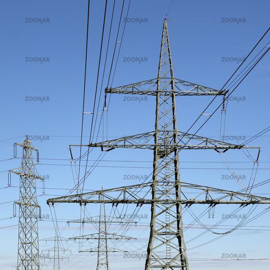 Strommasten Energie Elektrizität