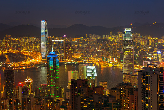 Hong Kong at night from Victoria Peak