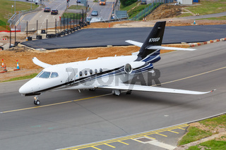 Cessna 680A Citation Latitude Flugzeug Flughafen London Luton