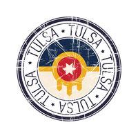 City of Tulsa, Oklahoma vector stamp