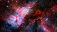 Magenta nebulae. Elements of this image furnished by NASA