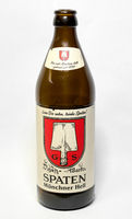 empty beer bottle of Spaten brewery from Munich in Germany