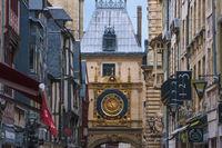 Gros-Horloge clock tower of Rouen