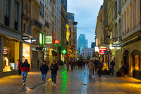 people Old Town street Brussels