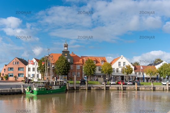 Townscape at the port of Toenning