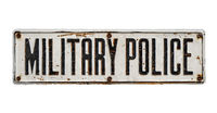Isolated Sign For Military Police