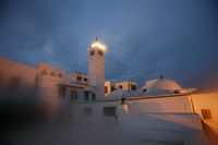 TUNISIA SIDI BOU SAID OLD TOWN MOSQUE