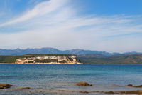 Corsican coast in the south