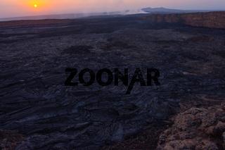 Lava at Erta Ale volcanic crater, Ethiopia