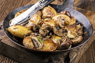 potato with mushrooms roasted
