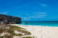 beautiful beach with blue sea on Barbados