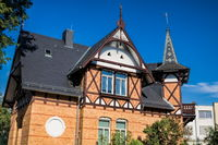 Schkeuditz, Germany - June 19, 2019 - old house with turrets