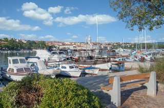 Krk Stadt auf der Insel Krk,Adria,Kroatien