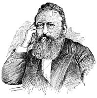 Portrait of Ludwig Anzengruber - an Austrian dramatist, novelist and poet.