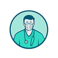 Male Nurse Wearing Surgical Mask Icon