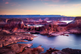 USA Arizona Alstrom Point in sunset