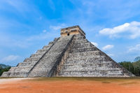 Temple of Kukulcan is a step pyramid at Chichen Itza complex