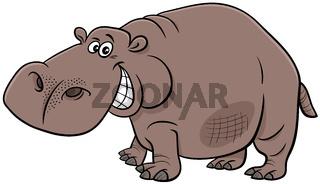 cartoon hippopotamus wild animal character