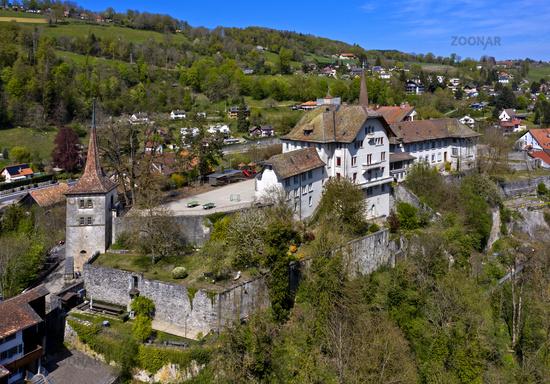 Carrouge Castle, Moudon, canton of Vaud, Switzerland