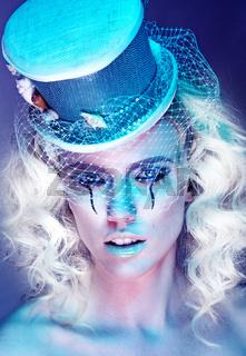 Pretty Woman in Futuristic Fashion