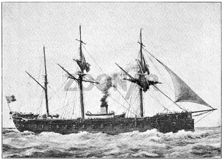 The French ironclad Gloire ('Glory') - the first ocean-going ironclad
