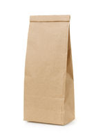 Blank brown craft paper bag