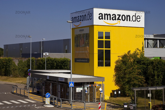 Amazon logistics center, fulfillment, one of the largest locations in Europe, Rheinberg, Germany