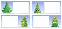 Stylized Christmas theme cards 2