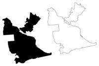Kegums Municipality (Republic of Latvia, Administrative divisions of Latvia, Municipalities and their territorial units) map vector illustration, scribble sketch Kegums map