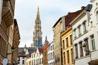 Old town, Sablon church, Brussels