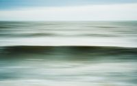 Intentional camera movement of ocean wave