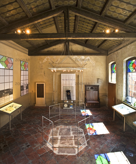 Old synagogue, documentation center on Jewish local history, Petershagen, Germany, Europe