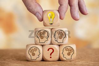Ideen bringen Antwort auf Probleme im Teamwork