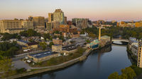 Aerial view Wilmington Delaware Downtown City Skyline USA North America
