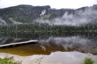 mountain lake in salzkammergut, austria