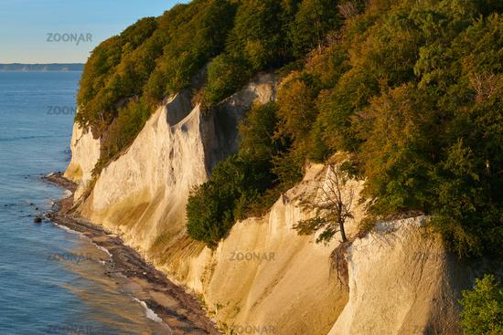 Ruegen Germany chalk rocks lakeside path