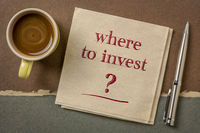 Where to invest? Financial concept