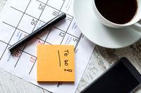 Monthly activities in the calendar to do