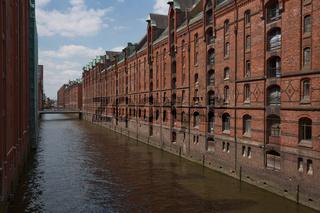 Warehouse district of Hamburg (Speicherstadt) in Germany