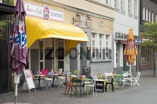 Strassencafe am Marktplatz von Hamm, NRW, DEutschland