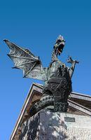 Bronze dragon of Trsat symbol of the city